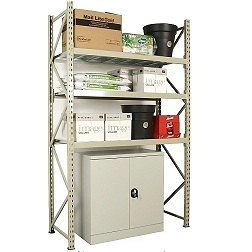 Wide Span Shelving H=2100 with chipboard