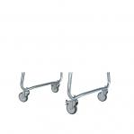 Wheels for pallet legs