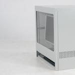 Dataskåp Halv, 595x450x640xmm, omonterat, grå