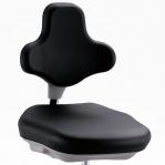 Lab Stol svart, 450-650mm, med hjul