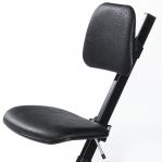 Ståstödstol, konstläder svart