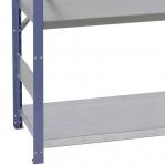Lagerhylla startsektion 2100x1000x600 200kg/hyllplan,5 hyllor, blå/galv