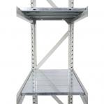 Lagerhylla startsektion 2200x2300x500 350kg/hyllplan,3 hyllor, spånskiva