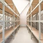 Lagerhylla följesektion 2200x2300x600 350kg/hyllplan 3 hyllor, spånskiva