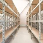 Lagerhylla startsektion 2500x1200x900 600kg/hyllplan,3 hyllor, zinkplåt