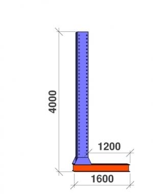 L-pelare 4000x1200