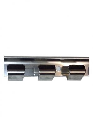 Väggskena för PVC-Beslag, Rostfri, 984mm