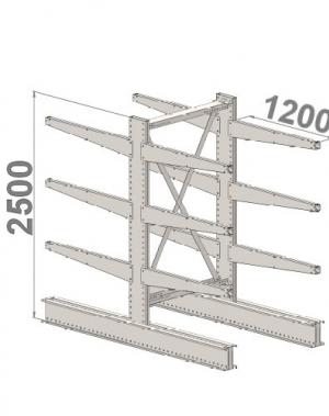 Grenställ startsektion 2500x1500x2x1200,12 x arm