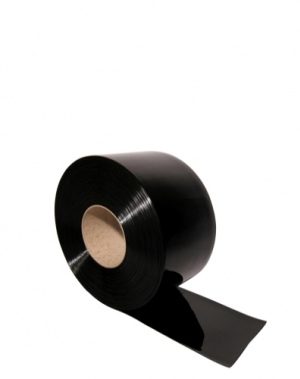 PVC plastridå svart 2x300mm/meter