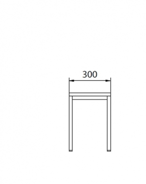 Metallbänk 300x290x420