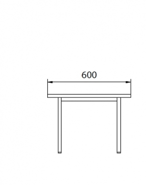 Metallbänk 600x290x420
