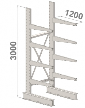 Starter bay 3000x1500x1200,5 levels