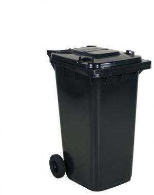 Avfallskärl 240L, svart/mörkgrå