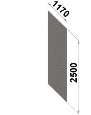 Perforerad ryggplåt 2500x1170