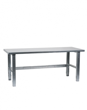 Workbench 2000x800, metal top, galv. legs