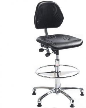 Arbetsstol Comfort ESD hög, med fotring