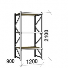 Starter bay 2100x1200x900 600kg/level,3 levels with chipboard