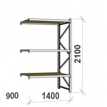 Extension bay 2100x1400x900 600kg/level,3 levels with chipboard