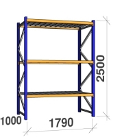Starter bay 2500x1790x1000 360 kg/level,3 levels with steel decks