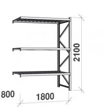 Lagerhylla följesektion 2100x1800x800 480kg/hyllplan,3 hyllor