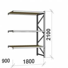 Extension bay 2100x1800x900 480kg/level,3 levels with chipboard