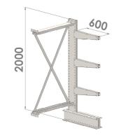 Grenställ följesektion 2000x1000x600,3 x arm