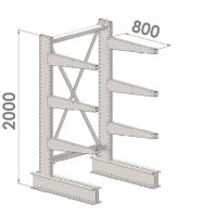Grenställ startsektion 2000x1000x800,6 x arm