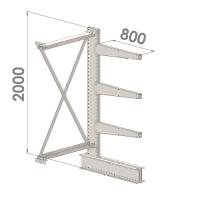 Grenställ följesektion 2000x1000x800,3 x arm
