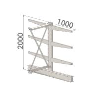 Grenställ följesektion 2000x1000x2x1000,6 x arm