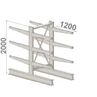 Grenställ startsektion 2000x1000x2x1200,12 x arm