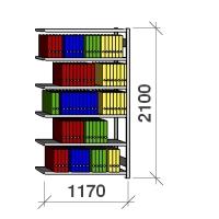 Extension bay 2100x1170x300 200kg/shelf,6 shelves
