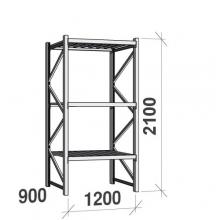 Lagerhylla startsektion 2100x1200x900 600kg/hyllplan,3 hyllor