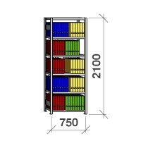 Starter bay 2100x750x300 200kg/shelf,6 shelves