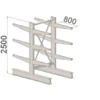 Grenställ startsektion 2500x1000x2x800,12 x arm