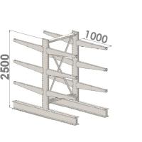 Grenställ startsektion 2500x1000x2x1000,12 x arm