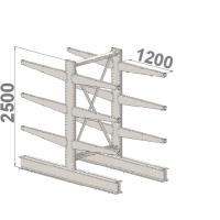 Grenställ startsektion 2500x1000x2x1200,12 x arm