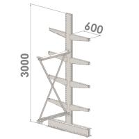 Grenställ följesektion 3000x1000x2x600,8 x arm