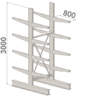 Grenställ startsektion 3000x1000x2x800,16 x arm
