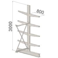 Grenställ följesektion 3000x1000x2x800,8 x arm