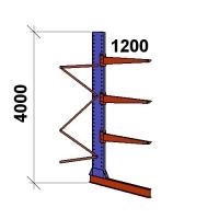 Grenställ följesektion 4000x1500x1200,3 x arm