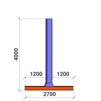 T-pelare 4000x2x1200