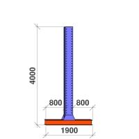 T-pelare 4000x2x800