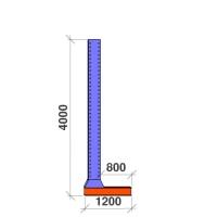 L-pelare 4000x800