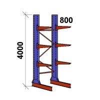 Grenställ startsektion 4000x1500x800,6 x arm
