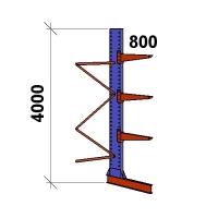 Grenställ följesektion 4000x1500x800,3 x arm