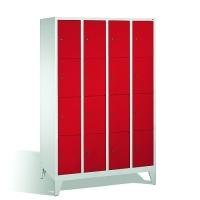 4-tier locker, 16 doors, 1850x1190x500 mm