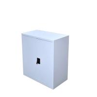 Dokumentskåp, 2 hyllor 900x800x400, grå, hopfällbar