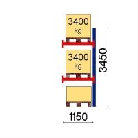 Pallställ följesektion 3450x1150 3400kg/3 pallar