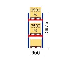 Pallställ startsektion 3975x950 3500kg/3 pallar