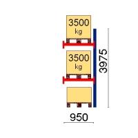 Pallställ följesektion 3975x950 3500kg/3 pallar